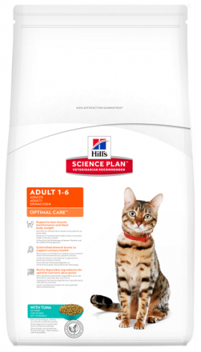 Сухой корм Hill's Science Plan Optimal Care сухой корм для кошек с тунцом 400 г