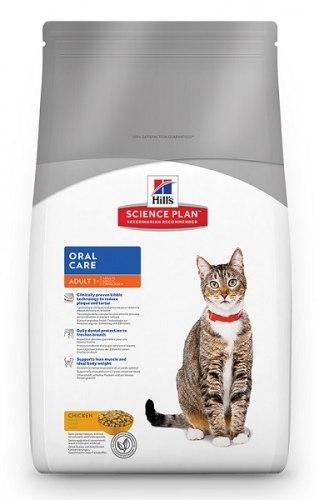 Сухой корм Hill's Science Plan Oral Care сухой корм для взрослых кошек для гигиены полости рта с курицей 1,5 кг