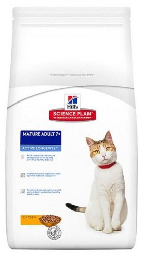 Сухой корм Hill's Science Plan Active Longevity сухой корм для кошек старше 7 лет с курицей 1,5 кг