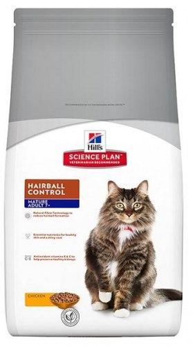 Сухой корм Hill's Science Plan Hairball Control сухой корм для кошек старше 7 лет для выведения шерсти с курицей 1,5 кг