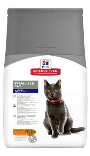 Сухой корм Hill's Science Plan Sterilised Cat сухой корм для стерилизованных кошек старше 7 лет с курицей 300 г