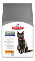 Сухой корм Hill's Science Plan Sterilised Cat сухой корм для стерилизованных кошек старше 7 лет с курицей 1,5 кг