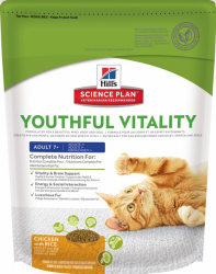 Сухой корм Hill's Science Plan Youthful Vitality сухой корм для кошек старше 7 лет с курицей и рисом 1,5 кг