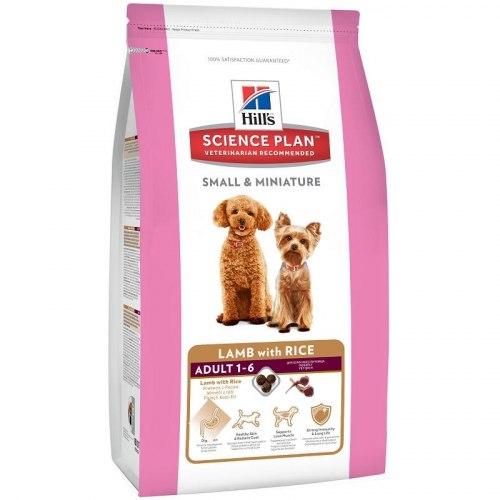 Сухой корм В НАЛИЧИИ Hill's Science Plan Small & Miniature сухой корм для собак мелких и миниатюрных пород ягненок с рисом 1,5 кг