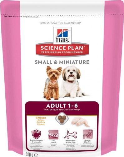 Сухой корм Hill's Science Plan Small & Miniature сухой корм для собак мелких и миниатюрных пород с курицей 300 г