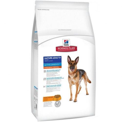 Сухой корм Hill's Science Plan Active Longevity сухой корм для собак крупных пород старше 5 лет с курицей 12 кг