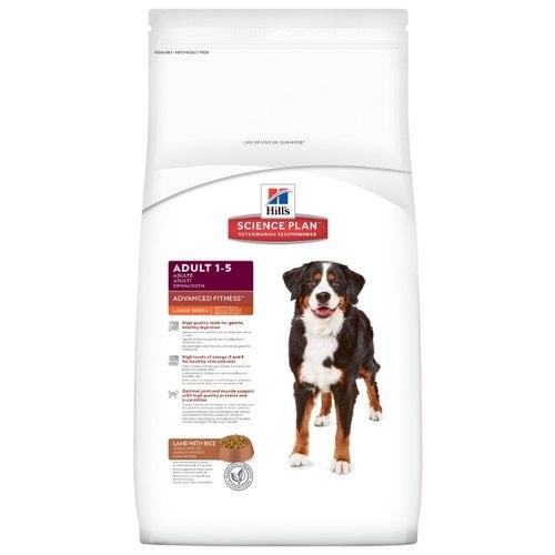 Сухой корм Hill's Science Plan Advanced Fitness сухой корм для собак крупных пород ягненок с рисом 12 кг