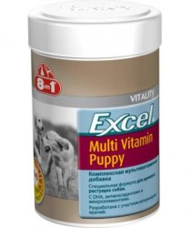 Добавка 8 in 1 Excel Multi Vit-Puppy 100 таб. (1 таб до 4 кг)