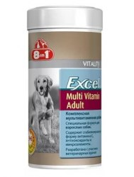 Добавка 8 in 1 Excel Multi Vit-Adult 70 таб. (1 таб до 20 кг)