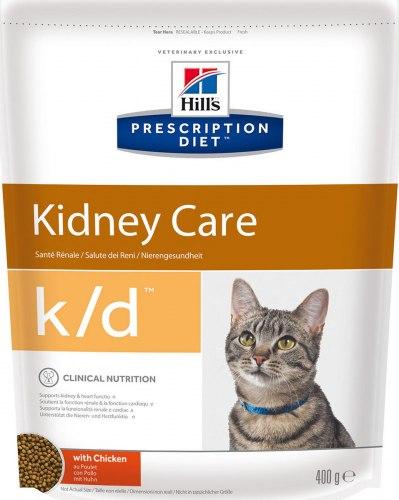 Сухой корм Hill's Prescription Diet k/d Kidney Care сухой корм для кошек с курицей 400 г