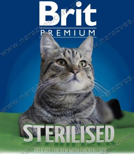 Сухой корм НА РАЗВЕС Брит Premium Cat Sterilised 1 кг