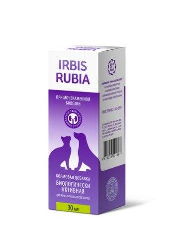 Кормовая добавка В НАЛИЧИИ ИРБИС РУБИЯ при мочекаменной болезни для кошек и собак, 30 мл