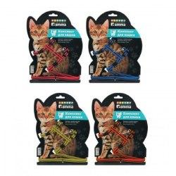 Комплект Gamma шлейка и поводок для кошек из капрона, 400*300*85 мм; 10*1500мм