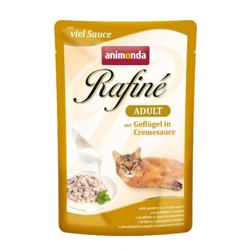 Консерва В НАЛИЧИИ Animonda Rafine для кошек с домашней птицей в сливочном соусе, 100г