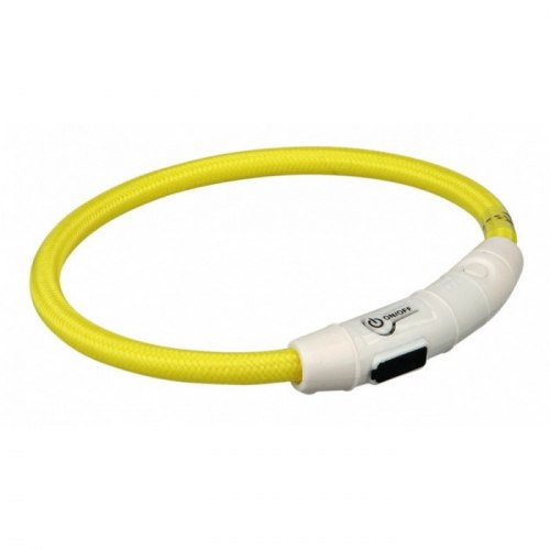 Ошейник TRIXIE светящийся, USB Flash, M-L, 45см/диам.7мм