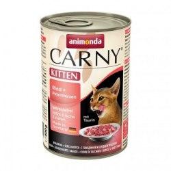 Консерва В НАЛИЧИИ Animonda Carny для котят с говядиной и сердце индейки, 400 г