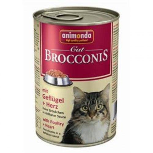 Консерва В НАЛИЧИИ Animonda Brocconis для кошек с домашней птицей и сердцем, 400г