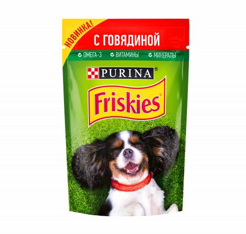 Консерва В НАЛИЧИИ Friskies для собак всех пород с говядиной, 85 г