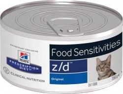 Консерва В НАЛИЧИИ Hill's z/d для кошек при аллергии 156г