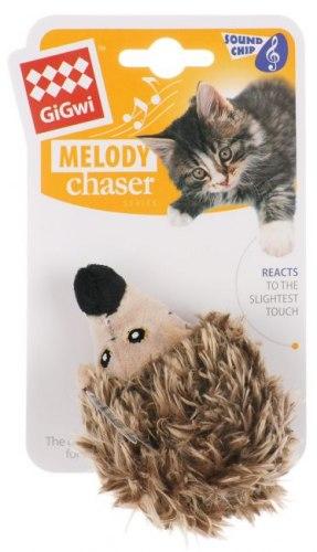 Игрушка В НАЛИЧИИ Gigwi для кошек Ежик со звуковым чипом, 10 см