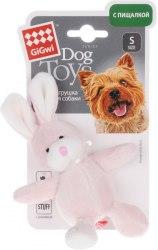 Игрушка В НАЛИЧИИ Gigwi для собак Заяц, с пищалкой, плюш, 10 см
