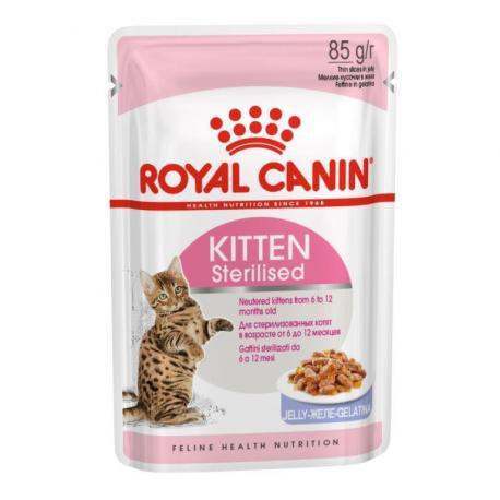 Консерва В НАЛИЧИИ Royal Canin Kitten Sterilised в желе, 85г