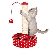 Когтеточка В НАЛИЧИИ TRIXIE в виде столбика Play Post, 45 см, красно-белая