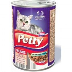 Консерва Petty с кусочками телятины и баранины, 405г