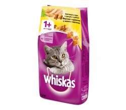 Сухой корм Whiskas Вкусные подушечки с нежным паштетом (курица и индейка),1,9 кг