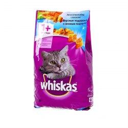 Сухой корм Whiskas Вкусные подушечки с нежным паштетом (лосось), 1,9кг