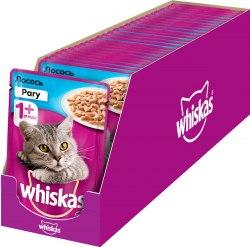 Консерва В НАЛИЧИИ Whiskas для кошек с лососем 85г