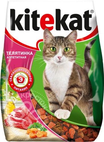 Сухой корм В НАЛИЧИИ Kitekat для взрослых кошек Телятинка аппетитная 350г