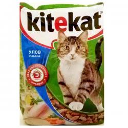 Сухой корм В НАЛИЧИИ Kitekat для взрослых кошек Улов рыбака 350г