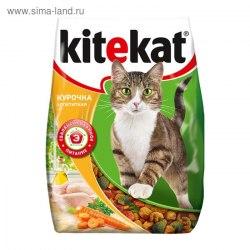 Сухой корм В НАЛИЧИИ Kitekat для взрослых кошек Курочка аппетитная 350г
