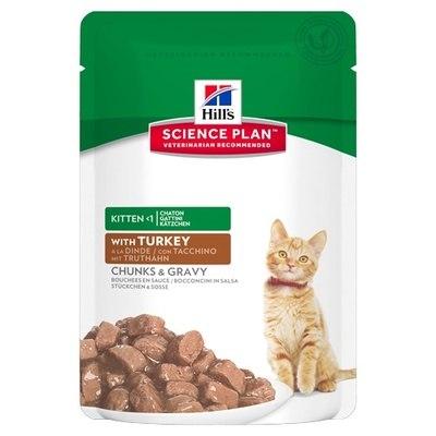 Консерва В НАЛИЧИИ Hill's для котят, беременных и кормящих кошек с индейкой, 85г