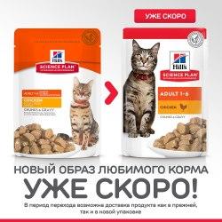 Консерва В НАЛИЧИИ Hill's для взрослых кошек с курицей, 85г