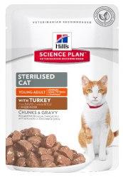 Консерва В НАЛИЧИИ Hill's для стерилизованных кошек в возрасте 6мес.-6лет с индейкой, 85г