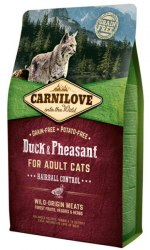 Сухой корм Carnilove Duck & Pheasant for Adult Cats – Hairball Control 6 кг