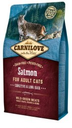 Сухой корм Carnilove Salmon for Adult Cats – Sensitive & Long Hair 6 кг