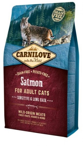 Сухой корм Carnilove Salmon for Adult Cats – Sensitive & Long Hair 2 кг