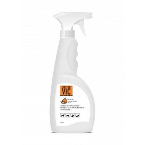 Спрей-нейтрализатор В НАЛИЧИИ Doctor VIC пятен и запаха животных Апельсин, 500мл