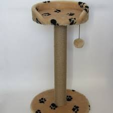 Когтеточка-Столбик с круглой лежанкой и бортиком 70см, диам.9см