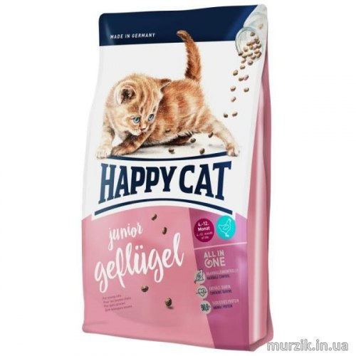 Сухой корм Happy Cat Junior (Птица) 10 кг