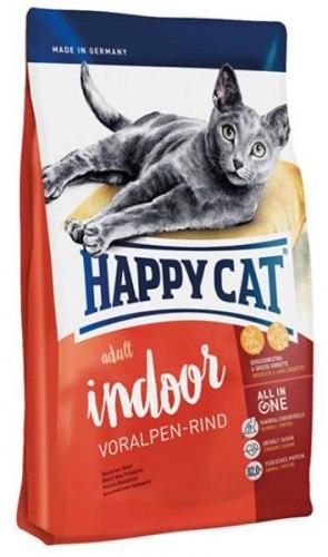Сухой корм Happy Cat Adult Indoor (Баварская говядина) 1,4 кг