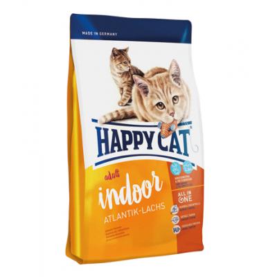 Сухой корм Happy Cat Adult Indoor (Атлантический лосось) 10 кг