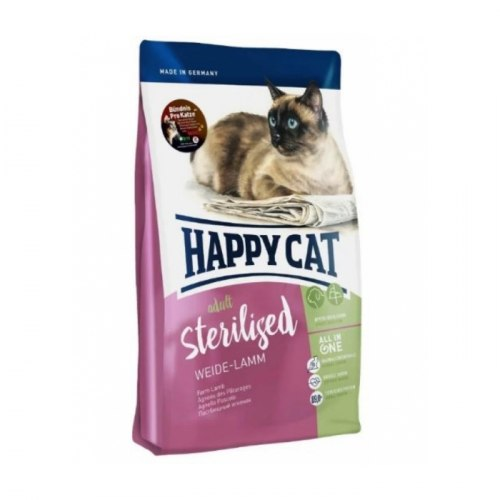 Сухой корм Happy Cat Sterilised Weide-Lamm (ягненок) 4 кг