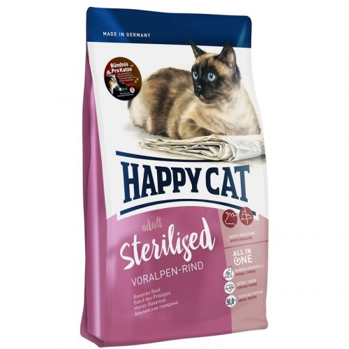 Сухой корм Happy Cat Sterilised Voralpen-Rind (говядина) 10 кг