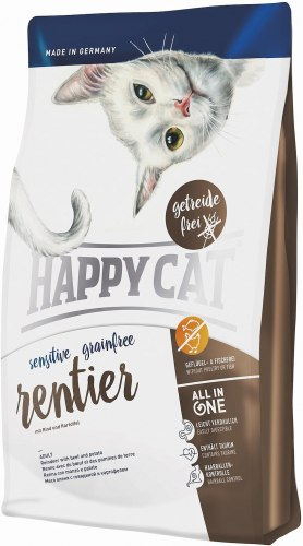 Сухой корм Happy Cat Sensitive Grainfree Rentier 4 кг