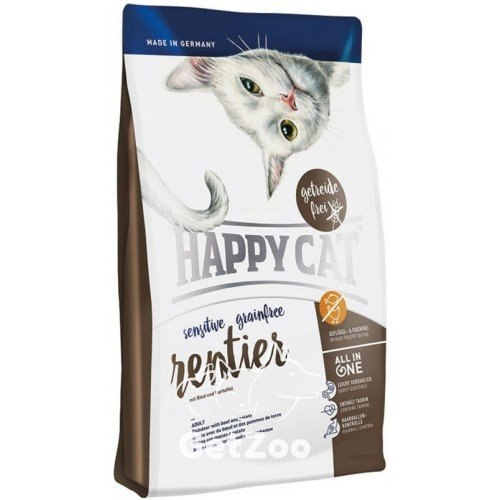 Сухой корм Happy Cat Sensitive Grainfree Rentier 1,4 кг