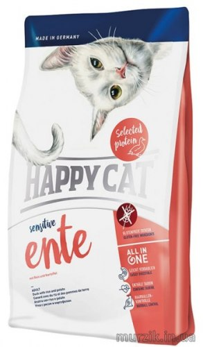 Сухой корм Happy Cat Sensitive Ente 1,4 кг